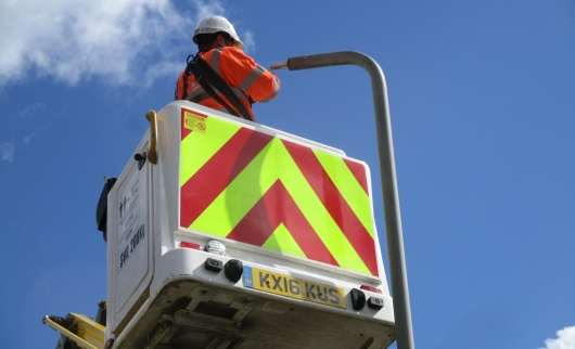 Installing 10,000 new LED street lights in 2018/19