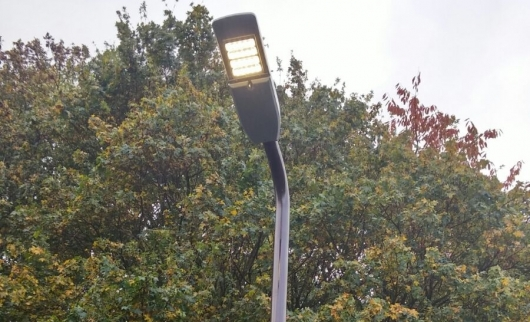 New LED lights being installed in MK